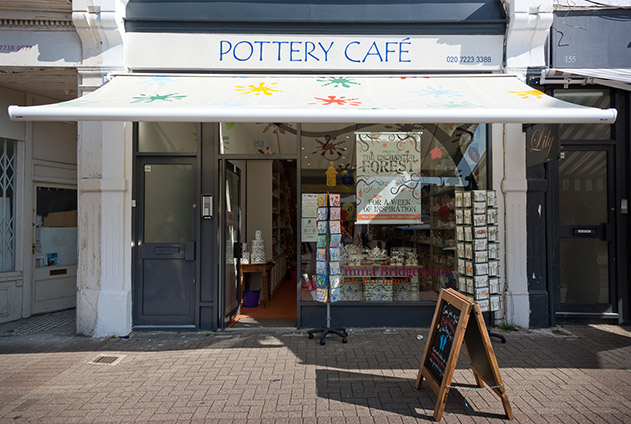 Battersea pottery cafe shop front
