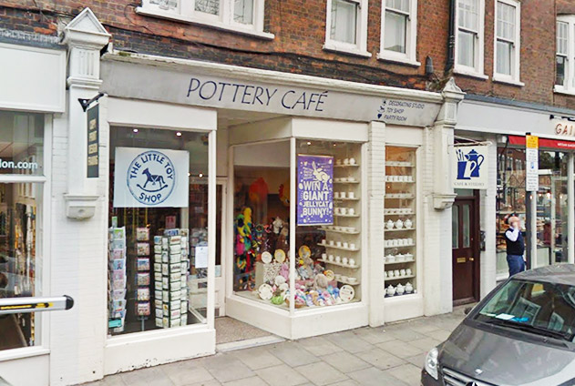 Fulham pottery cafe shop front