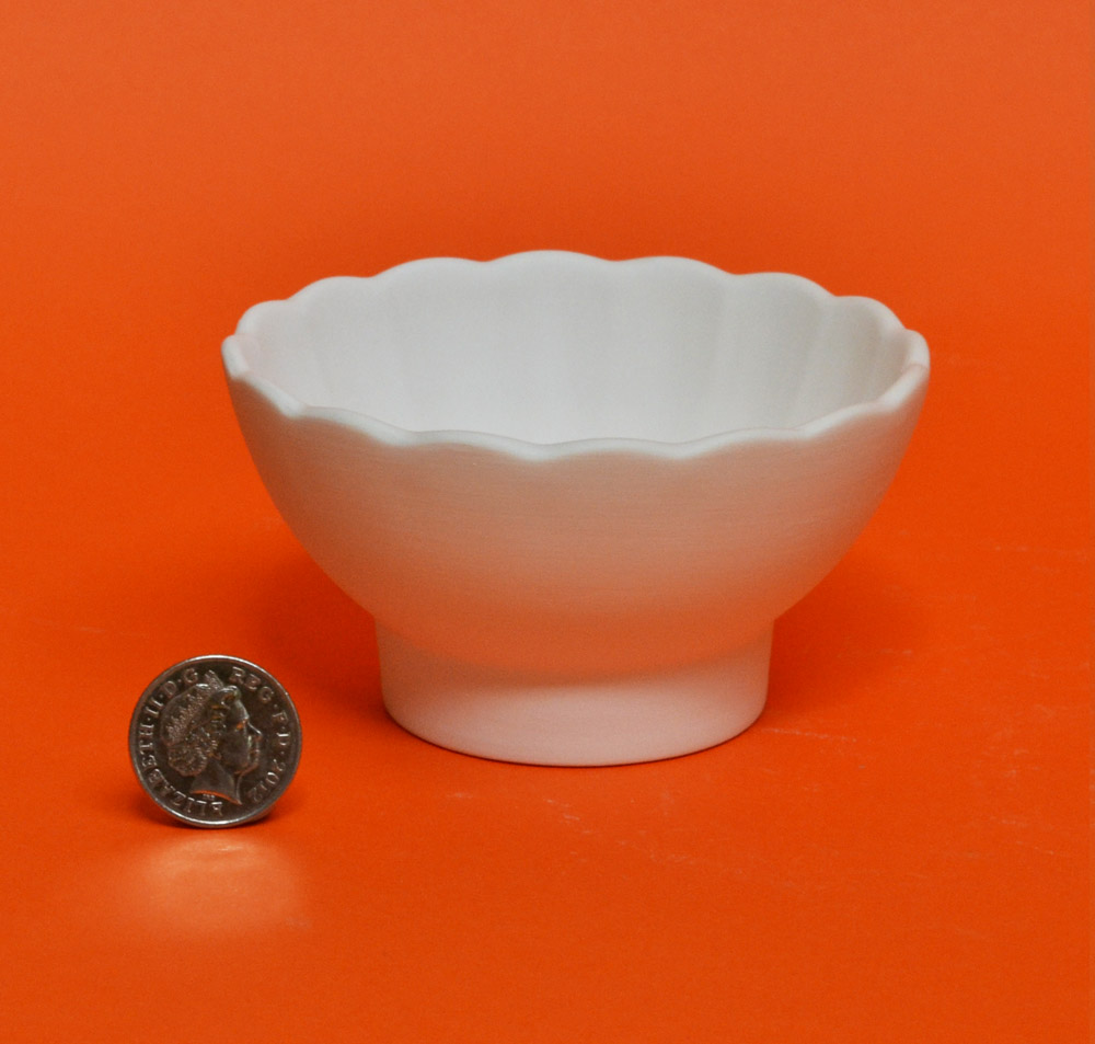 Small fluted bowl